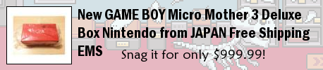 New GAME BOY Micro Mother 3 Deluxe Box Nintendo from JAPAN Free Shipping EMS