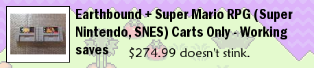 Earthbound + Super Mario RPG (Super Nintendo, SNES) Carts Only - Working saves