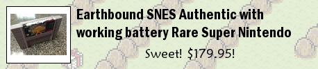 Earthbound SNES Authentic with working battery Rare Super Nintendo