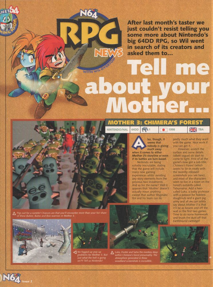 EarthBound 64 in N64 Magazine « EarthBound Central