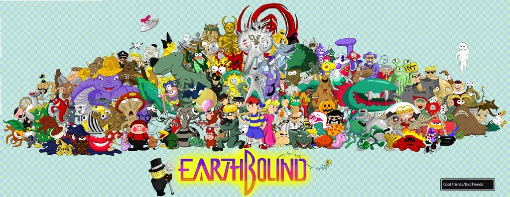 EarthBound Characters Poster Central