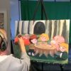 EarthBound Coffee Scene Painting