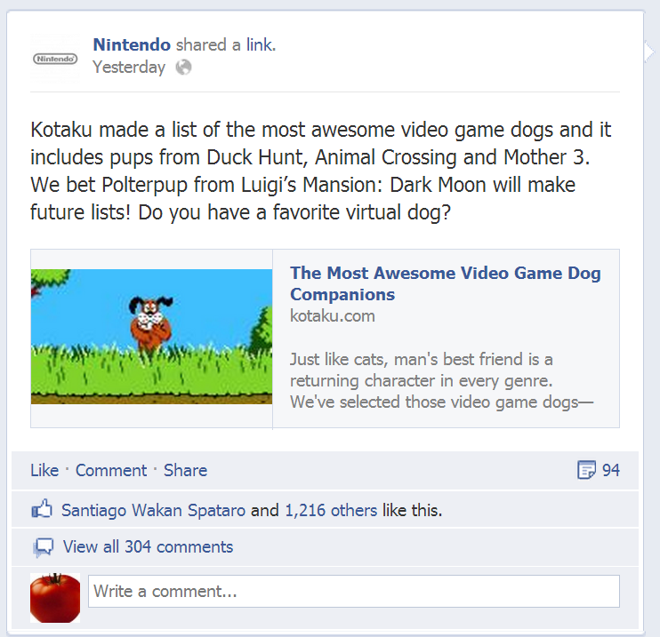 nintendo facebook mother 3