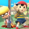 Screenshots of Ness in Smash Bros. Wii U