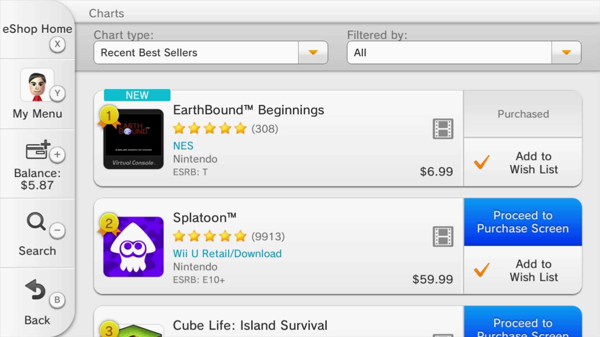 us wii u sales charts earthbound beginnings