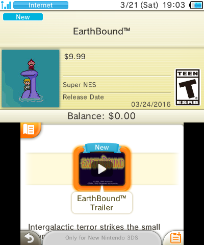 EarthBound Now Available on New 3DS for $9 99 « EarthBound