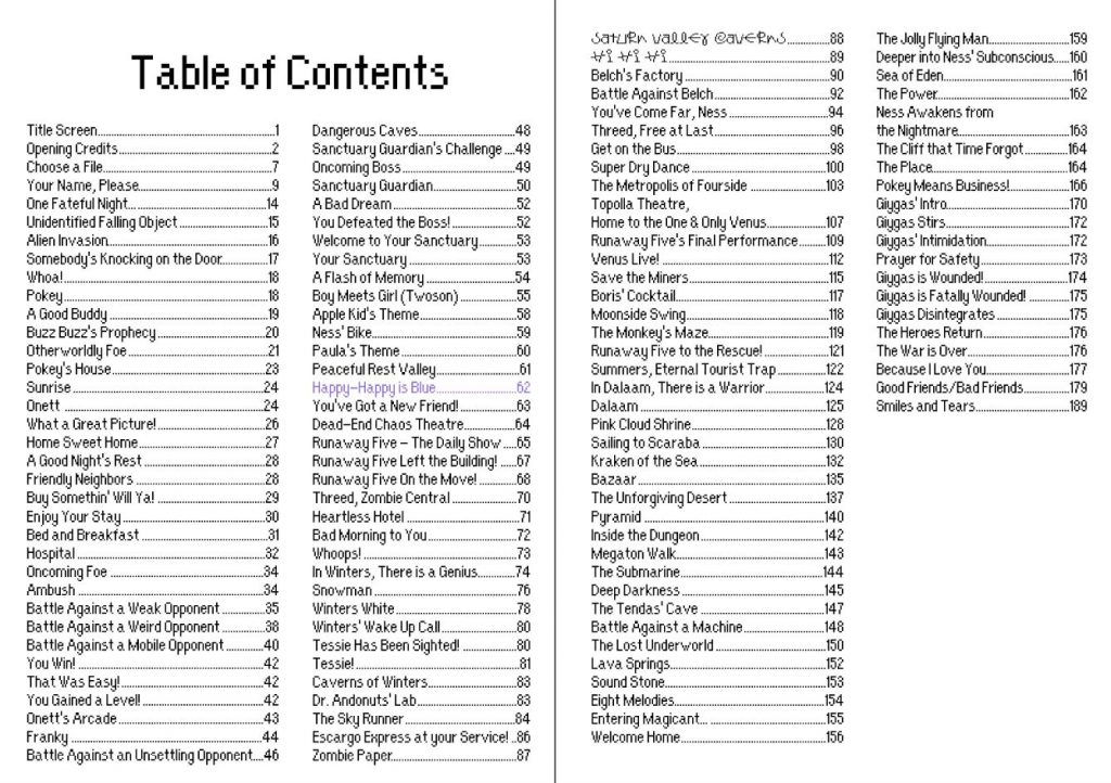 EarthBound's Full Soundtrack in Sheet Music Form! « EarthBound Central